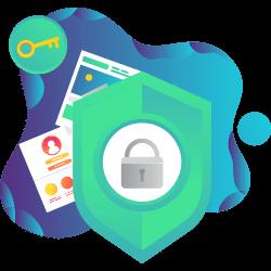 Icono protección seguridad